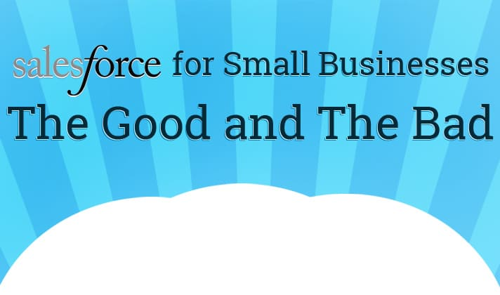 Salesforce for Small Businesses The Good and The Bad Infographic