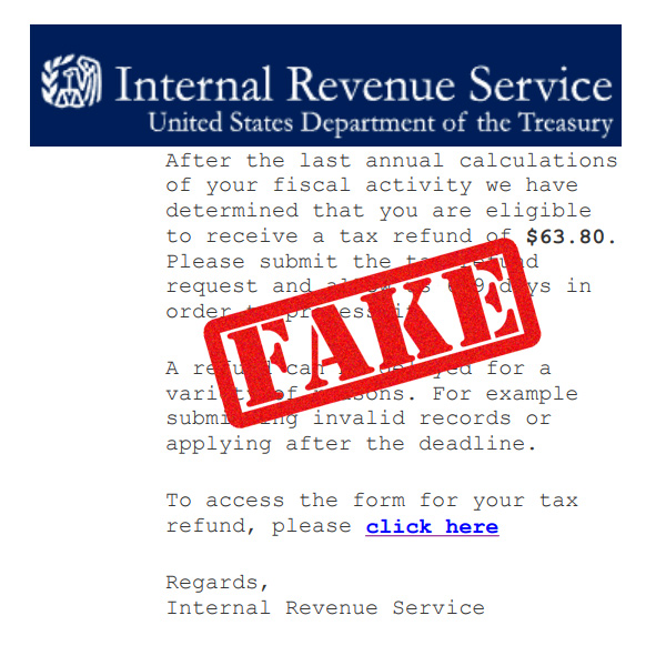 irs fake mail