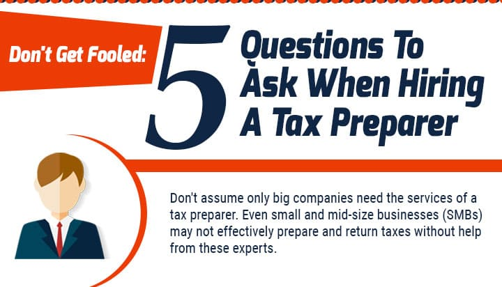question to ask hiring a tax preparer