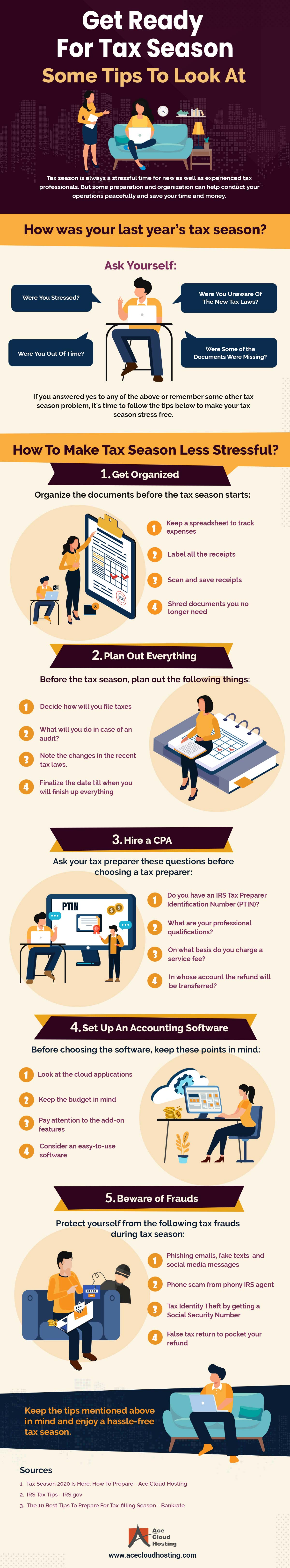 [Infographic] 5 Tips to Get Ready for Tax Season Now