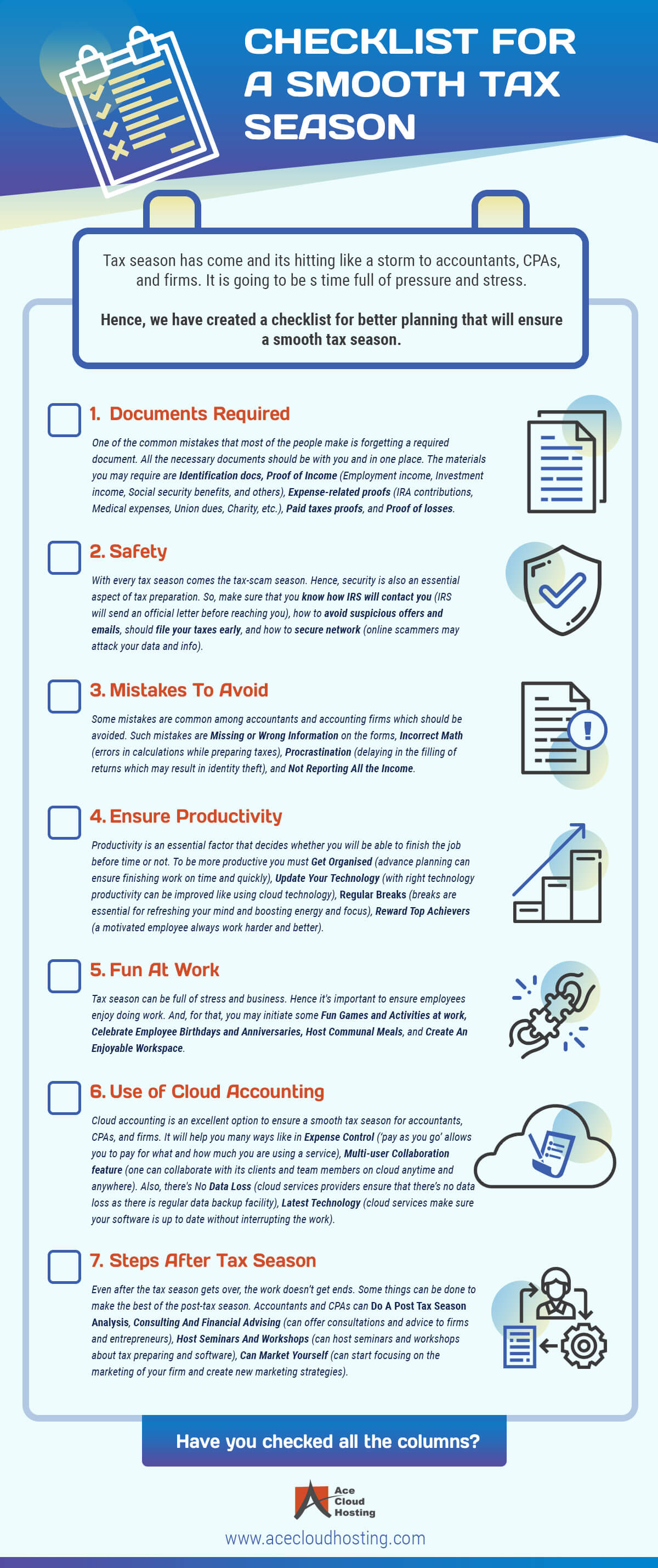 Infographic Checklist for Tax Season