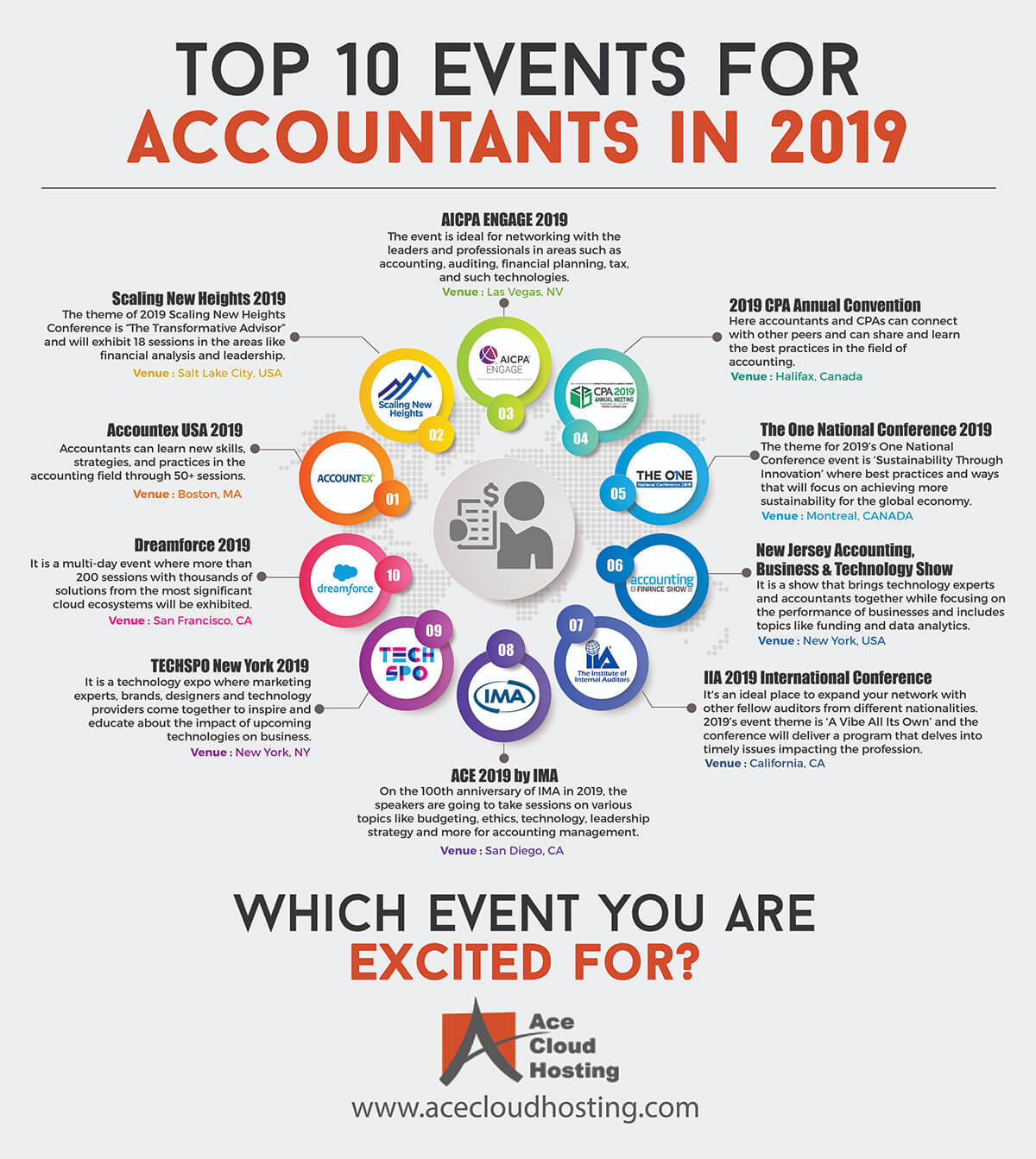 Events that Accountants Can't Afford to Miss in 2019 Infographic