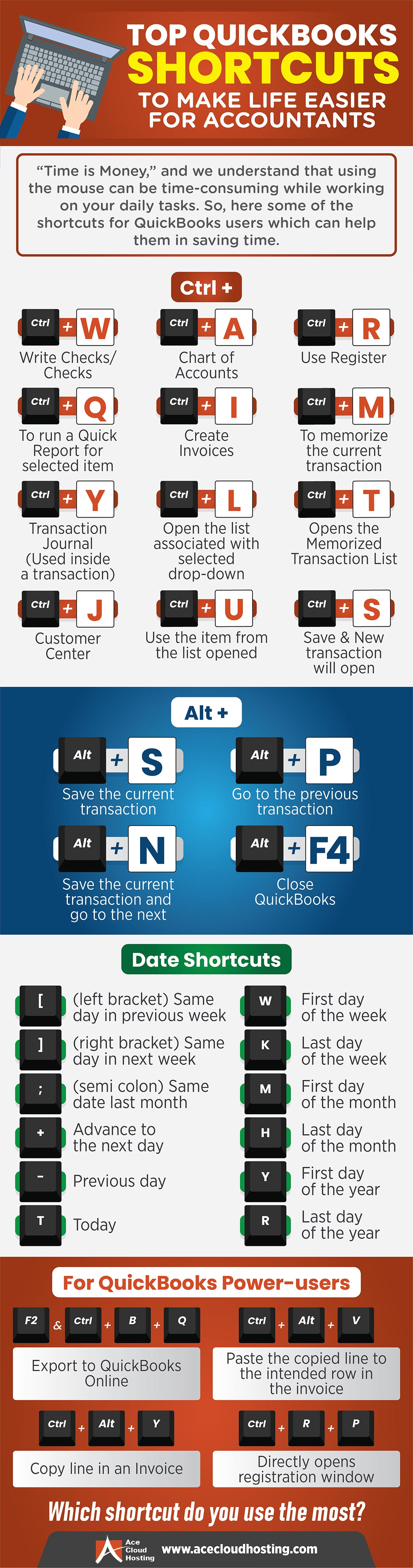 QuickBooks Shortcuts to Make Life Easier for Accountants Infographic