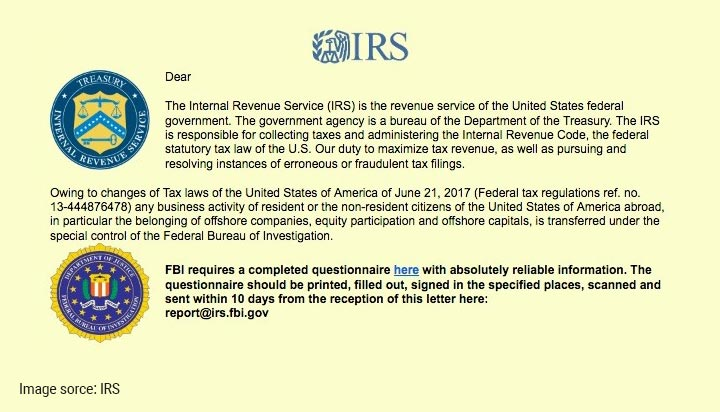 IRS Ransomeware Email Scam