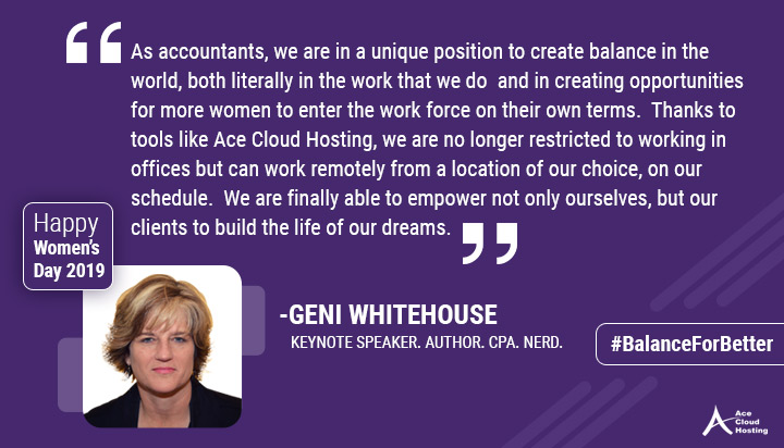 Quote by Geni Whitehouse on women's day