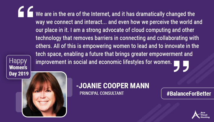 Quote by Joanie Cooper Mann on women's day