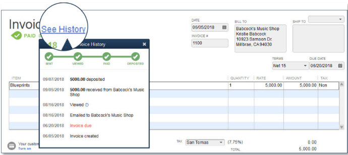QuickBooks Customer Invoice Status Tracker