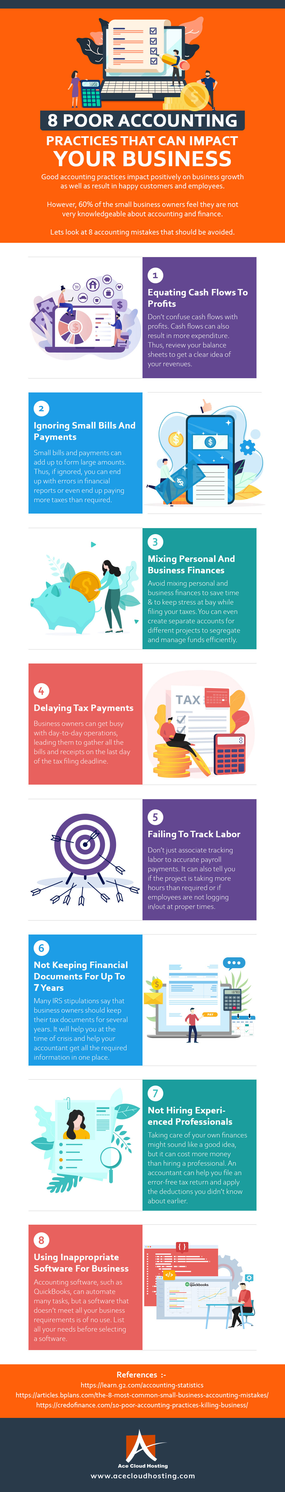 8 Poor Accounting Practices That Can Impact Your Businesses [Infographic]