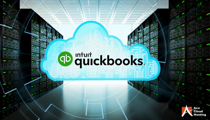 What is the cloud hosting process for QuickBooks?