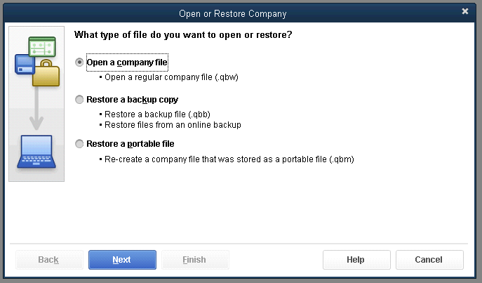 Convert QuickBooks company file to a newer version
