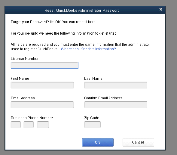 QuickBooks Automated Password Reset Tool