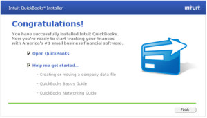 QuickBooks is successfully Installed