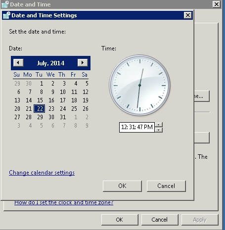 system date-time settings
