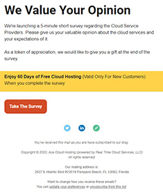 cloud-service-provider-survey-newsletter